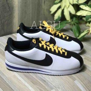 Nike Cortez Basic Leather White Black M AUTHENTIC